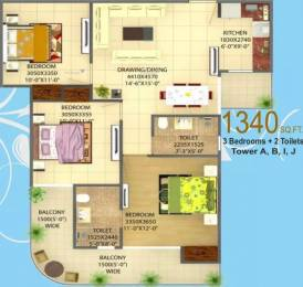 1340 sqft, 3 bhk Apartment in Victory Central Sector 12 Noida Extension, Greater Noida at Rs. 34.2500 Lacs