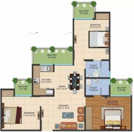 1195 sqft, 3 bhk Apartment in Ajnara LeGarden Sector 16 Noida Extension, Greater Noida at Rs. 33.0000 Lacs