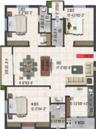1719 sqft, 3 bhk Apartment in Vijayacon Vijaya Meadows Gannavaram, Vijayawada at Rs. 56.7300 Lacs