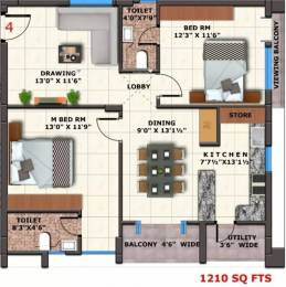 1210 sqft, 2 bhk Apartment in Matrix Florence Poranki, Vijayawada at Rs. 54.4500 Lacs