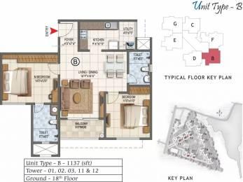 1137 sqft, 2 bhk Apartment in Prestige Lake Ridge Subramanyapura, Bangalore at Rs. 52.8700 Lacs