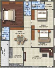 1650 sqft, 3 bhk Apartment in Bharathi Capital Square Koppuravuru, Guntur at Rs. 49.5000 Lacs