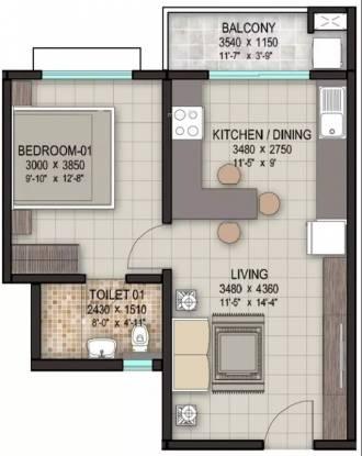 645 sqft, 1 bhk Apartment in Sobha Rain Forest at Dream Acres Varthur, Bangalore at Rs. 40.0000 Lacs