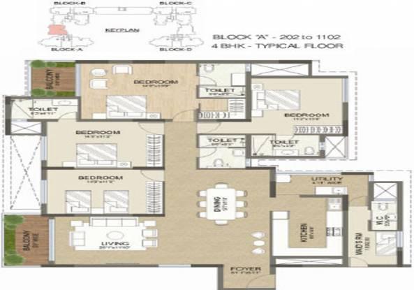 2453 sqft, 4 bhk Apartment in Advaitha Aksha Koramangala, Bangalore at Rs. 3.2000 Cr