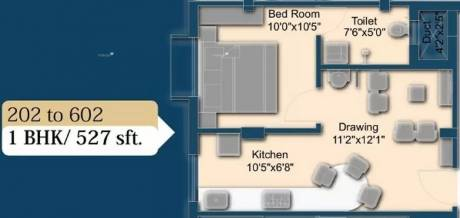 527 sqft, 1 bhk Apartment in AB Ayush Residency Uttara, Bhubaneswar at Rs. 13.1700 Lacs