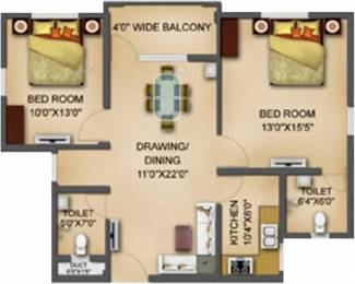1050 sqft, 2 bhk Apartment in Basera Aangan Patia, Bhubaneswar at Rs. 46.6200 Lacs