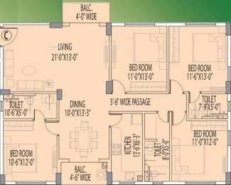 2052 sqft, 4 bhk Apartment in Rajat Boulevard Tangra, Kolkata at Rs. 1.0300 Cr