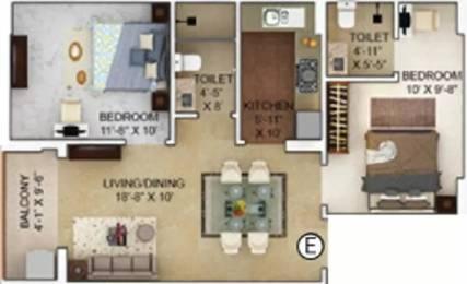 892 sqft, 2 bhk Apartment in Merlin Verve Tollygunge, Kolkata at Rs. 61.7000 Lacs