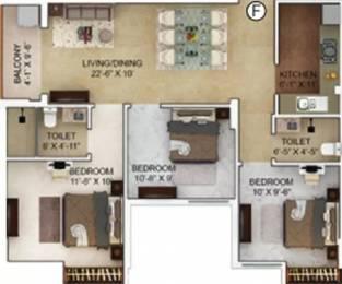 1157 sqft, 3 bhk Apartment in Merlin Verve Tollygunge, Kolkata at Rs. 80.0100 Lacs