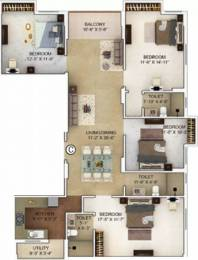 1996 sqft, 4 bhk Apartment in Merlin Verve Tollygunge, Kolkata at Rs. 1.3800 Cr
