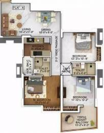 1020 sqft, 3 bhk Apartment in Merlin The One Tollygunge, Kolkata at Rs. 79.5600 Lacs
