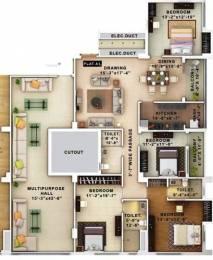 2286 sqft, 4 bhk Apartment in Merlin Iland Tiljala, Kolkata at Rs. 1.2600 Cr