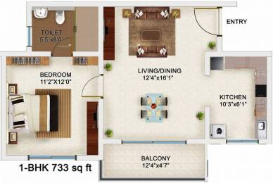 733 sqft, 1 bhk Apartment in Bren Champions Square Sarjapur Road Post Railway Crossing, Bangalore at Rs. 43.0000 Lacs