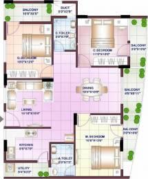 1432 sqft, 3 bhk Apartment in Sowparnika Swastika Attibele, Bangalore at Rs. 45.9500 Lacs