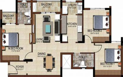 1404 sqft, 3 bhk Apartment in Salarpuria Sattva East Crest Budigere Cross, Bangalore at Rs. 64.0000 Lacs