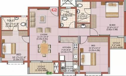 1346 sqft, 3 bhk Apartment in Ahad Excellencia Avalahalli Off Sarjapur Road, Bangalore at Rs. 67.5000 Lacs