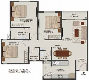 1286 sqft, 3 bhk Apartment in TATA New Haven Nelamangala Town, Bangalore at Rs. 47.5700 Lacs