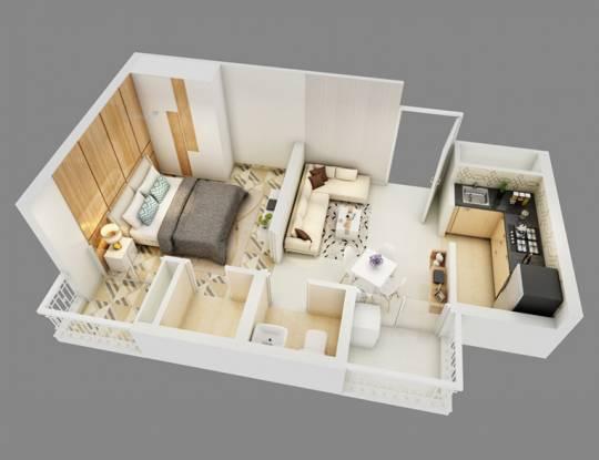 549 sqft, 1 bhk Apartment in Alcove New Kolkata Serampore, Kolkata at Rs. 14.5485 Lacs