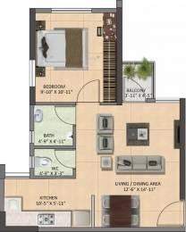 605 sqft, 1 bhk Apartment in Shapoorji Pallonji Joyville Howrah, Kolkata at Rs. 19.6625 Lacs