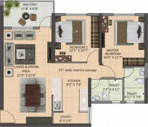 1116 sqft, 2 bhk Apartment in Shapoorji Pallonji Joyville Howrah, Kolkata at Rs. 36.2700 Lacs