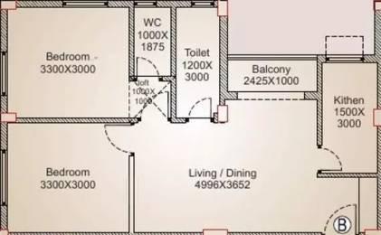 852 sqft, 2 bhk Apartment in Balaji Blessing Behala, Kolkata at Rs. 26.4120 Lacs