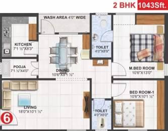 1043 sqft, 2 bhk Apartment in Utkarsha Abodes Madhurawada, Visakhapatnam at Rs. 33.3800 Lacs