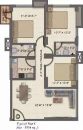 1334 sqft, 3 bhk Apartment in Ambient Winds Santoshpur, Kolkata at Rs. 93.3800 Lacs