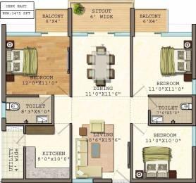 1475 sqft, 3 bhk Apartment in Vasavi GP Trends Nanakramguda, Hyderabad at Rs. 64.1600 Lacs