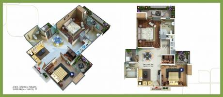 1096 sqft, 2 bhk Apartment in Omkar Royal Nest Knowledge Park, Greater Noida at Rs. 34.0000 Lacs