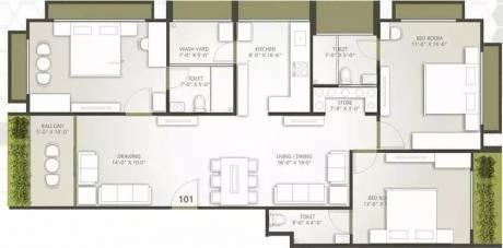 1782 sqft, 3 bhk Apartment in Rajyash Serenade Ventura Thaltej, Ahmedabad at Rs. 30000