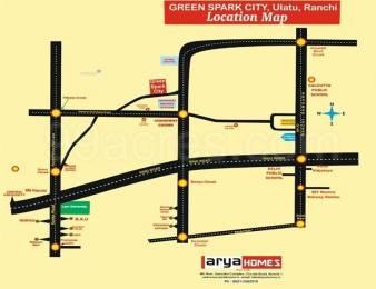 1500 sqft, Plot in Builder Arya Green Spark City Kanke Ormanjhi Road, Ranchi at Rs. 6.9000 Lacs