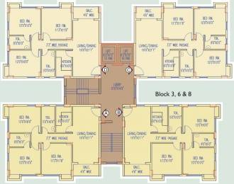 1287 sqft, 3 bhk Apartment in Natural City Laketown Lake Town, Kolkata at Rs. 57.9150 Lacs