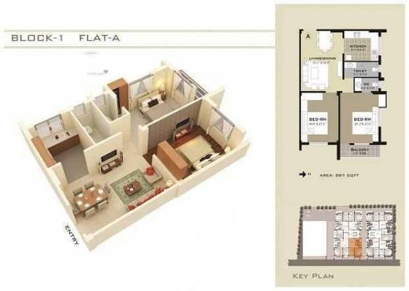 826 sqft, 2 bhk Apartment in Somani Sai Residency Uttarpara Kotrung, Kolkata at Rs. 24.3670 Lacs