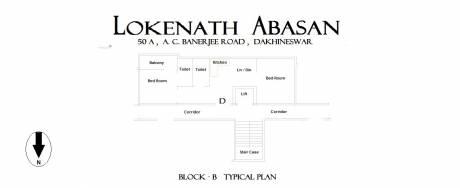 715 sqft, 2 bhk Apartment in Builder Lokenath Abasan Dakshineswar Dakshineswar, Kolkata at Rs. 22.1650 Lacs