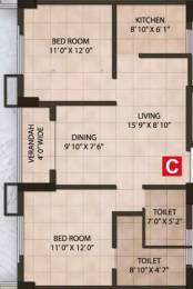 1005 sqft, 2 bhk Apartment in Martin Impala Lake Town, Kolkata at Rs. 61.2750 Lacs