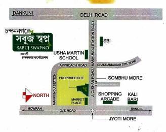 1056 sqft, 3 bhk Apartment in Builder Sabuj Swapna Chandannagar, Kolkata at Rs. 27.9840 Lacs