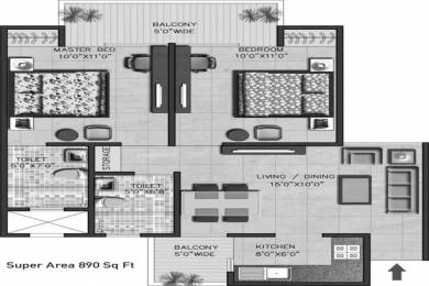 890 sqft, 2 bhk Apartment in SRS Dwarka Next Sector 11 Dwarka, Delhi at Rs. 28.4800 Lacs