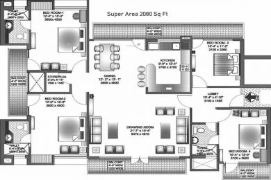 2080 sqft, 4 bhk Apartment in SRS Dwarka Next Sector 11 Dwarka, Delhi at Rs. 66.5600 Lacs