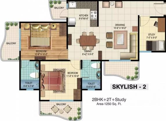 1250 sqft, 2 bhk Apartment in Rishabh Hindon Green Valley Kinauni Village, Ghaziabad at Rs. 54.0000 Lacs