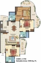 1590 sqft, 3 bhk Apartment in Rishabh Hindon Green Valley Kinauni Village, Ghaziabad at Rs. 68.0000 Lacs