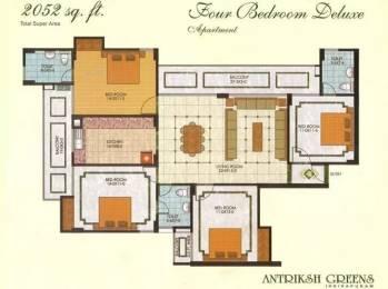 2052 sqft, 4 bhk Apartment in The Antriksh Greens Ahinsa Khand 2, Ghaziabad at Rs. 98.0000 Lacs