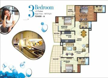 1872 sqft, 3 bhk Apartment in Angel Mercury Ahinsa Khand 2, Ghaziabad at Rs. 85.0000 Lacs