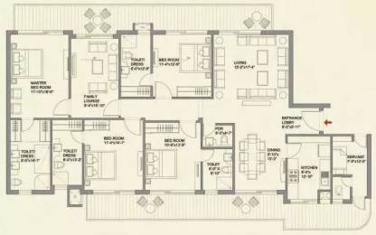 3185 sqft, 4 bhk Apartment in Bestech Park View Grand Spa Sector 81, Gurgaon at Rs. 1.7500 Cr