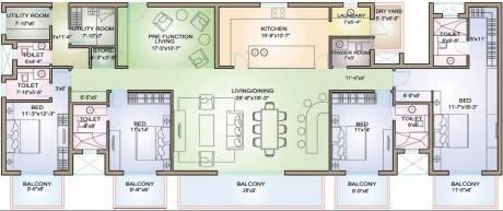 3829 sqft, 4 bhk Apartment in TATA Raisina Residency Sector 59, Gurgaon at Rs. 3.2500 Cr