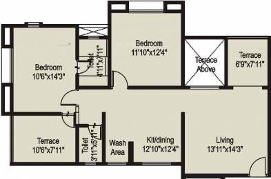 1040 sqft, 2 bhk Apartment in Raviraj Tushar Residency Pimple Saudagar, Pune at Rs. 64.0000 Lacs