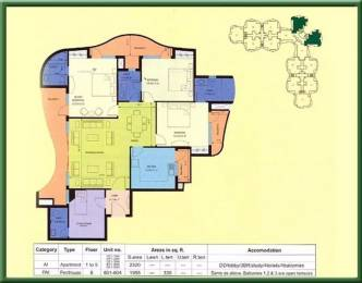 2320 sqft, 3 bhk Apartment in Eldeco Ananda Sector 48, Noida at Rs. 23000