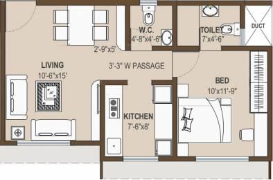 695 sqft, 1 bhk Apartment in Shree Krishna Eastern Winds Kurla, Mumbai at Rs. 94.0000 Lacs
