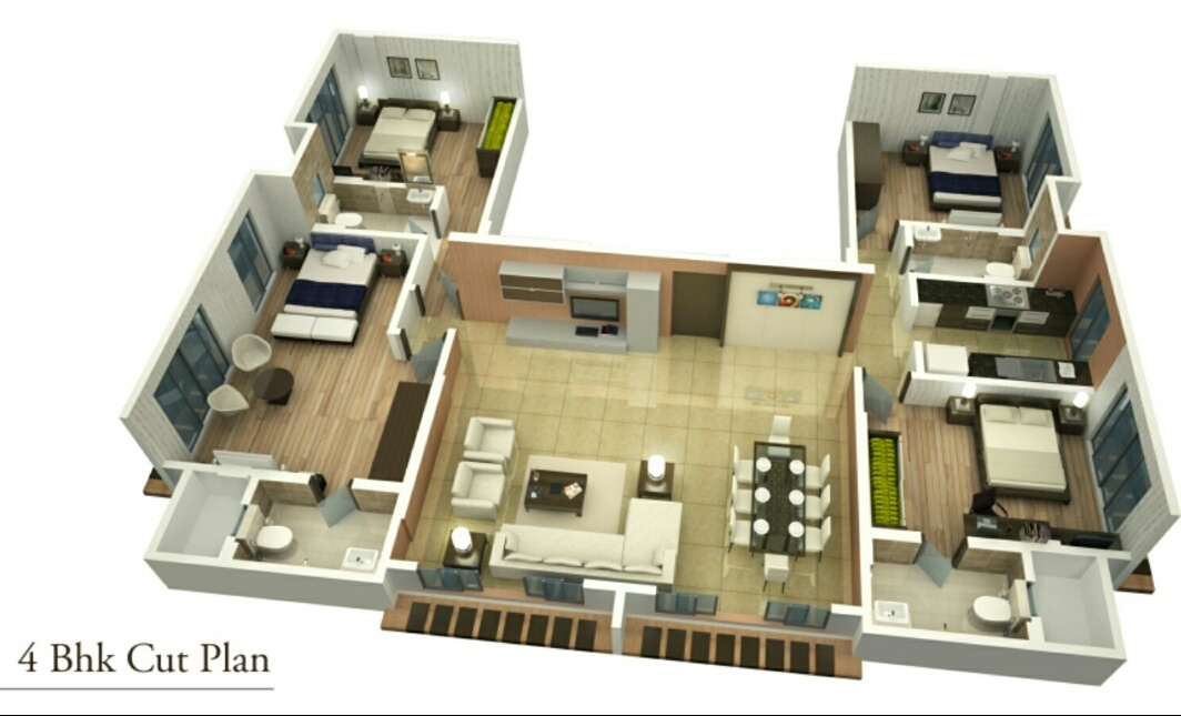 1620 sq ft 4BHK 4BHK+4T (1,620 sq ft) + Study Room Property By R R Propertiees In Project, Multan Heights