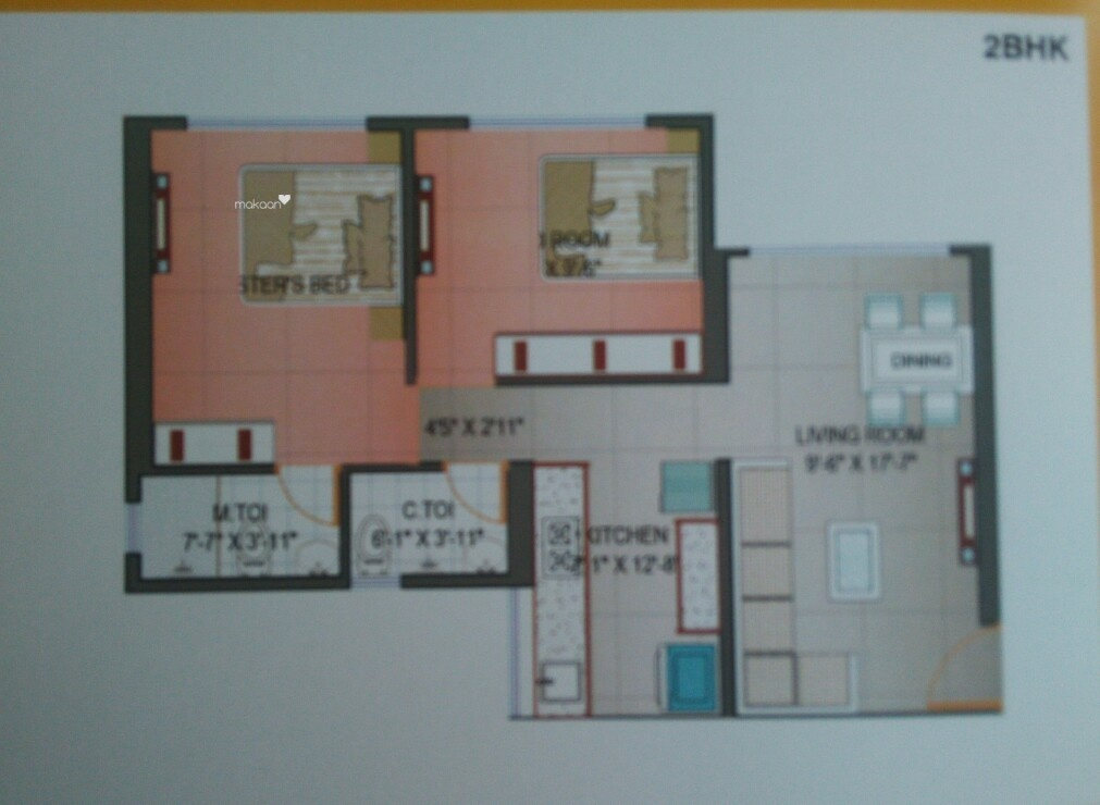 920 sq ft 2BHK 2BHK+2T (920 sq ft) Property By R R Propertiees In Project, Kandivali West