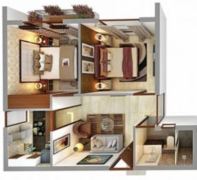 600 sqft, 2 bhk Apartment in Vedic Swayam City Uttar Gauripur, Kolkata at Rs. 16.8000 Lacs